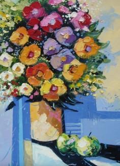 Bouquet aux deux pommes 50cm-50